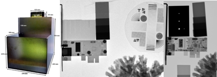 250x200mm camera; 100kW neutron image; 120kV pulsed x-ray image[3]